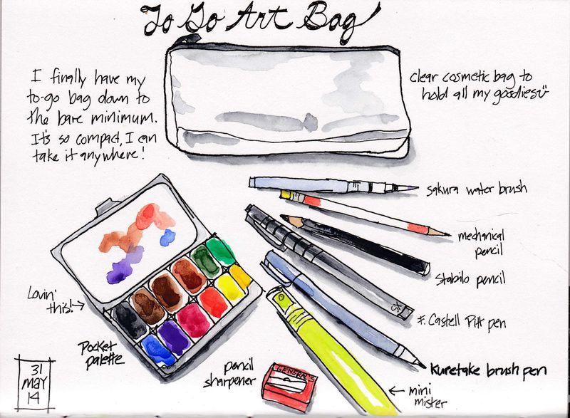 Art bag sketch